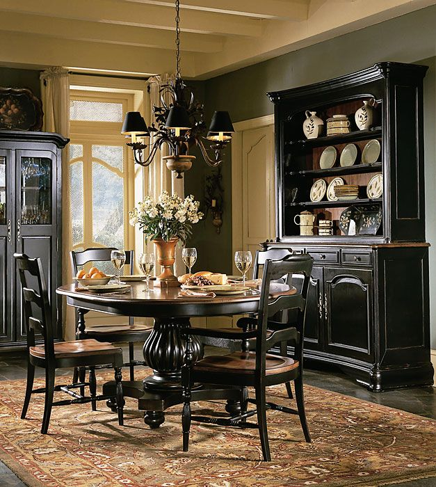 Vintage Dining Room Set Makeover: Paint It Black | Black dining .