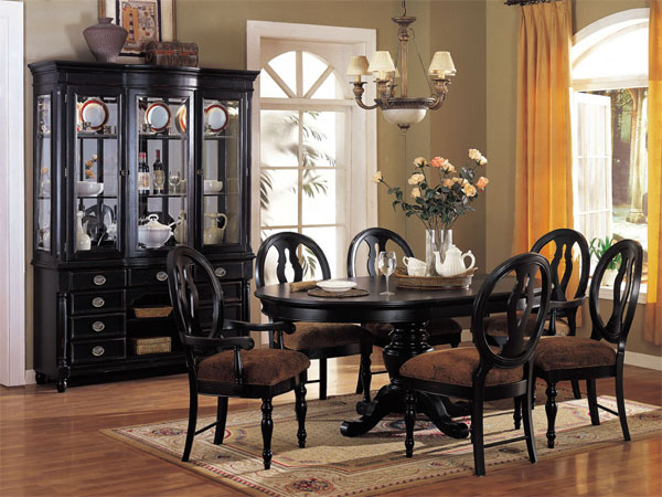 2018 black dining room furniture ideal for stylish dining rooms .