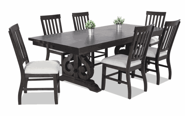 Sanctuary 7 Piece Dining Set with Slat Chairs | Bobs.c