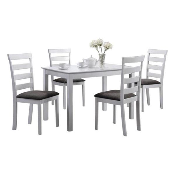 Oakland Living Indoor Black and White Ladder-Back 5-Piece Dining .
