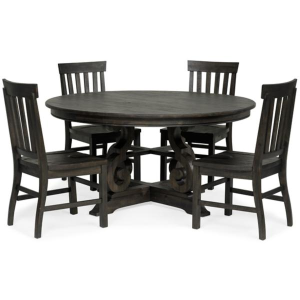 Treble II 5 Piece 60inch Round Dining Table Set | Star Furnitu