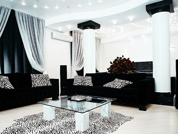 Black Leather Sofa Sets Inspiring Ideas for Living Room - hg