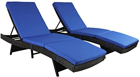 Amazon.com: Patio Chaise Lounge Garden Furniture Patio Furniture .