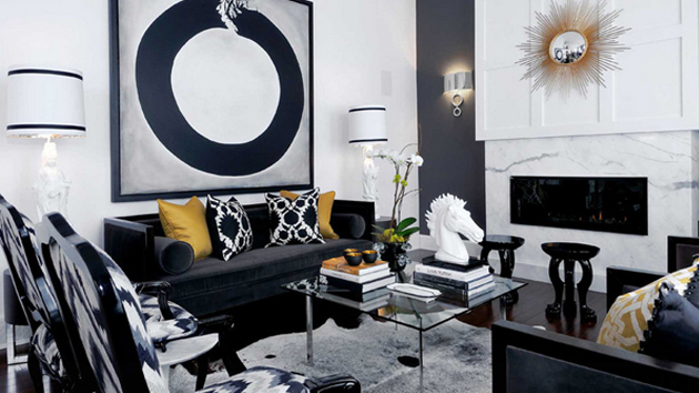 20 Attractive Black Sofa Living Room | Home Design Lov