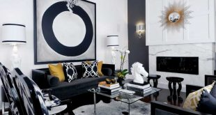 20 Attractive Black Sofa Living Room | Home Design Lov
