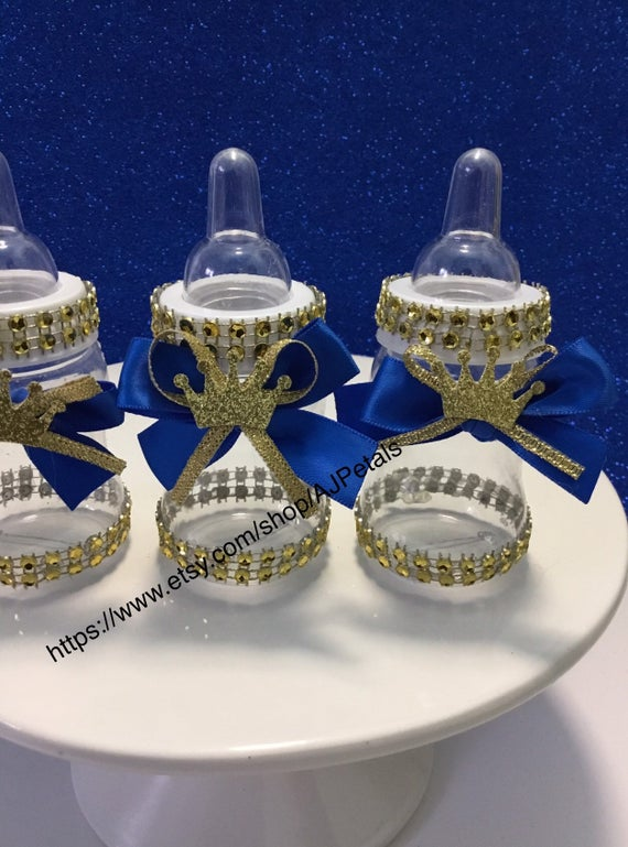 24 small 4 Royal blue Baby Shower Favors Little Prince | Et