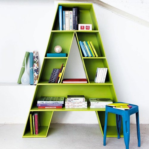 Lime Green A Alphabetical Shape Kids Book Case, For Home, Rs 45000 .