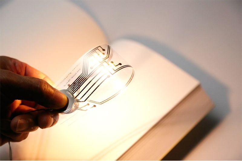Paper-Thin Book Lights : book ligh