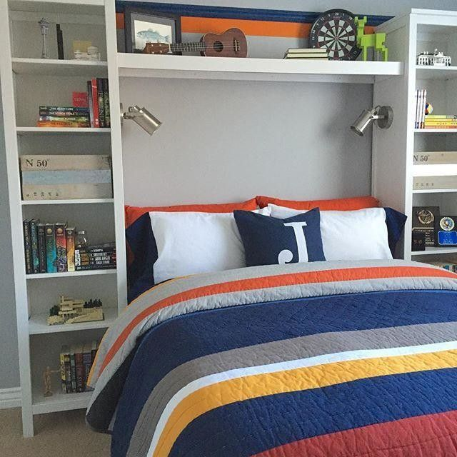 white furniture in boys room | Cozy small bedrooms, Boys room .