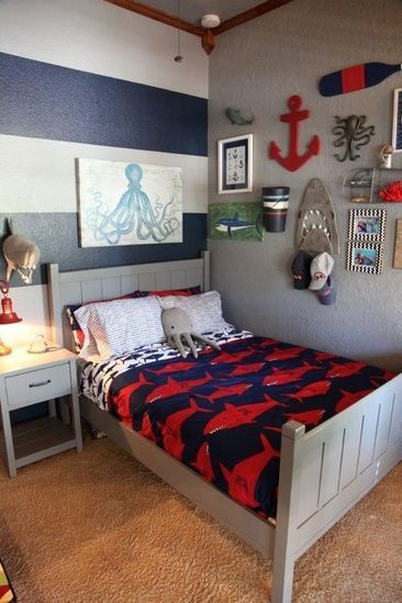 20+ Cool Boys Bedroom Furniture Decorating Colour | Boys bedroom .