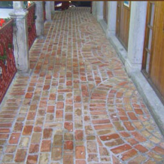 Old Chicago brick pavers on porch. | Brick pavers, Brick sidewalk .