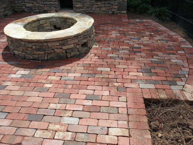 General Shale Brick Paver Patio - Modern - Patio - Charlotte - by .