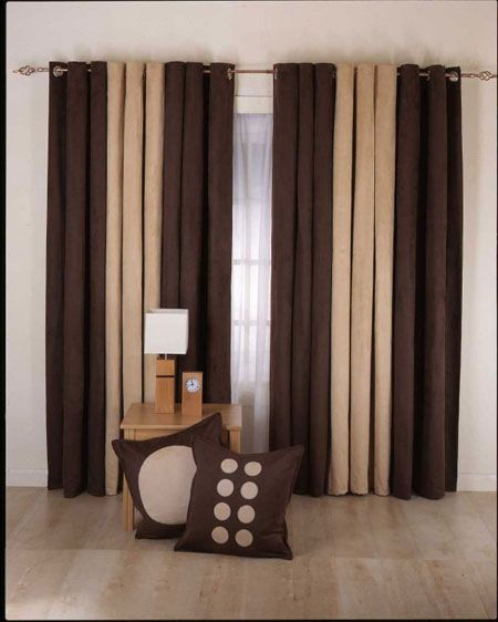 Brown Curtains For Living Room