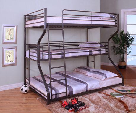 Topline Home Furnishings 3 In 1 Bunk Bed Metal Double | Bunk bed .
