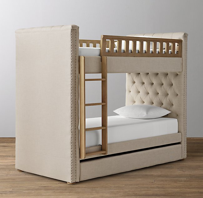 Chesterfield Tufted Bunk Bed with Trund