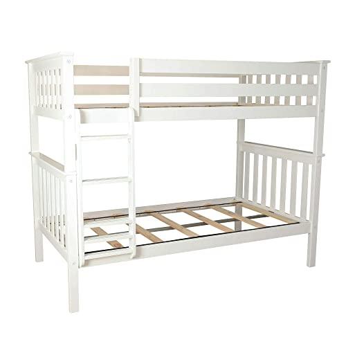 White Twin Bunk Beds: Amazon.c