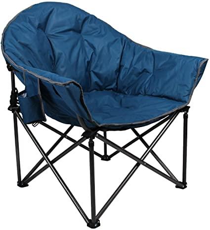 Amazon.com : ALPHA CAMP Upgrade Moon Saucer Folding Camping Chair .