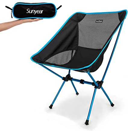 Amazon.com : Sunyear Lightweight and Foldable Camp Chair, Portable .