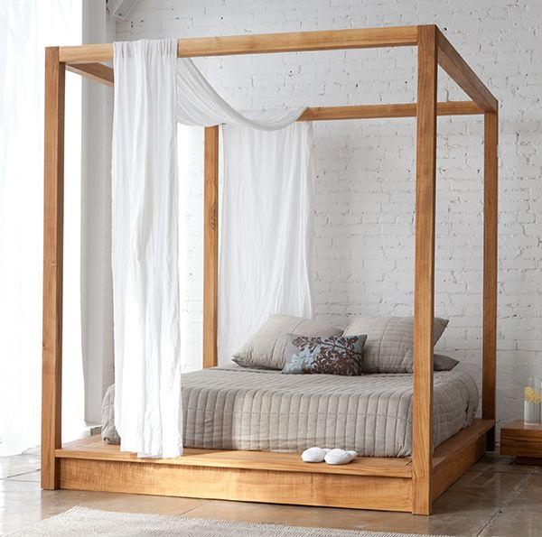 10 Easy Pieces: Four-Poster Canopy Beds | Canopy bed frame, Modern .