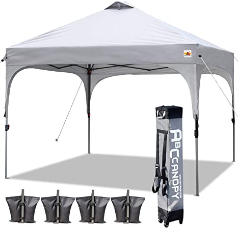 Amazon.com: ABCCANOPY Canopy Tent 10x10 Pop Up Canopy Outdoor .