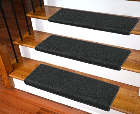 Carpet Stair Treads - Non-Slip Bullnose Carpet for Stairs - Indoor .
