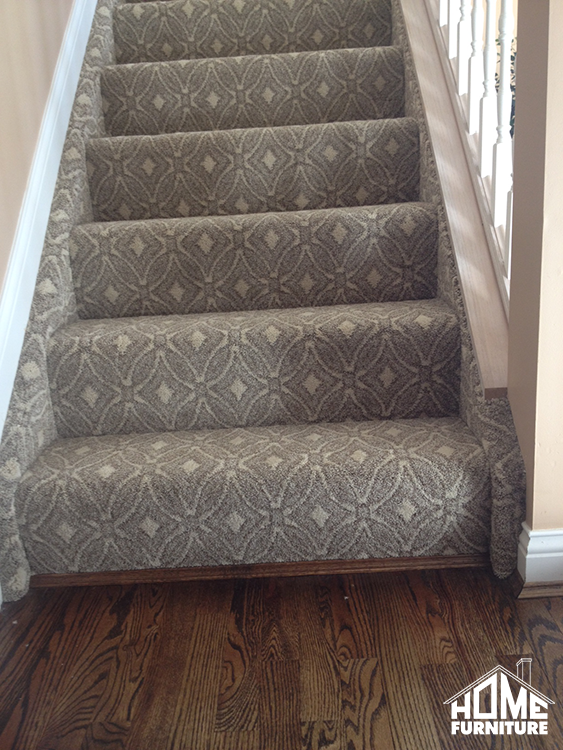 Pattern carpet wrapped stairs with a sanding & refinish on .