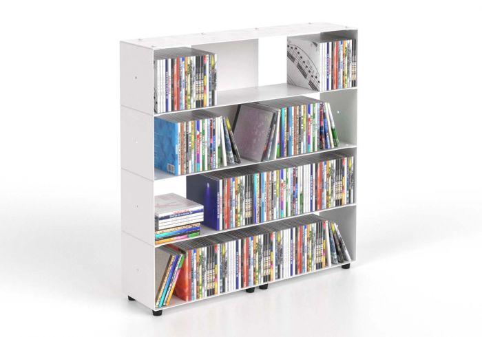 Cd storage W60 H60 D15 cm - 4 shelv