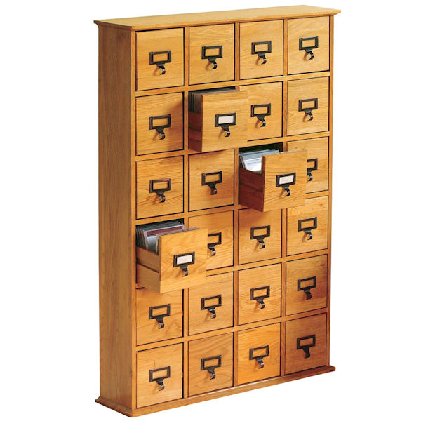 Library Catalog Media Storage Cabinet - 24 Drawer - Stores 456 .