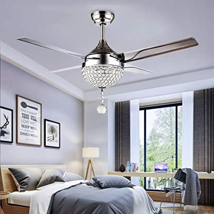 Tropicalfan Crystal Modern Ceiling Fan Remote Control Home .