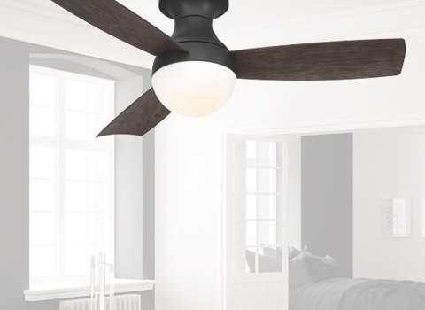 Hugger Ceiling Fans - Flush Mount Low Profile Fans for Low Ceilin