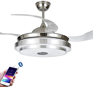 BDenise 42 inch Bluetooth Music Ceiling Fans with Lights and .