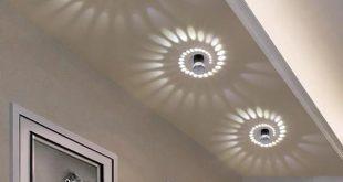 Modern Swirl LED Ceiling Light – Warm