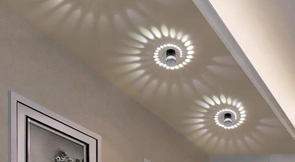 Modern Swirl LED Ceiling Light – Warm