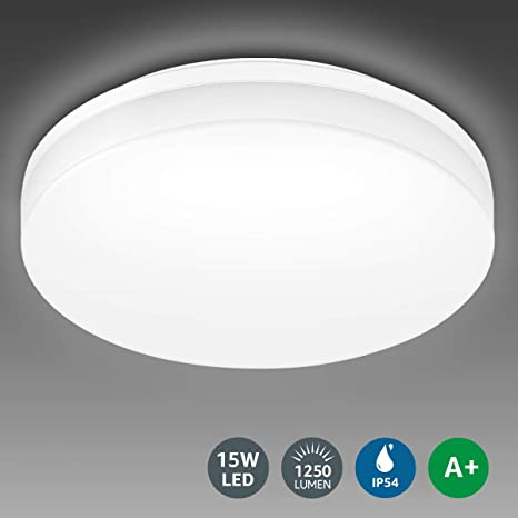 LE Flush Mount Ceiling Light Fixture, Waterproof IP54 LED Ceiling .