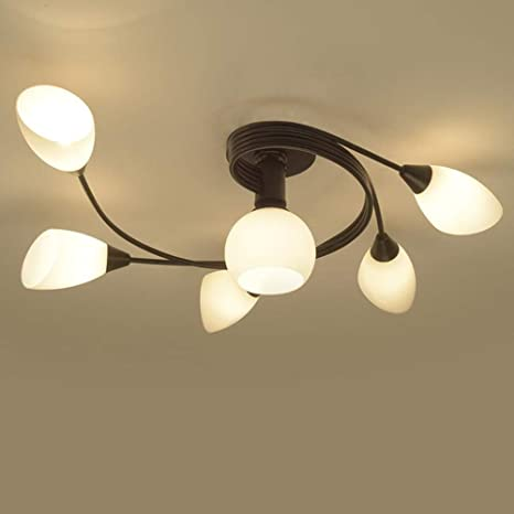Joypeach Rustic Style LED Flush Mount Ceiling Lights, Creative .