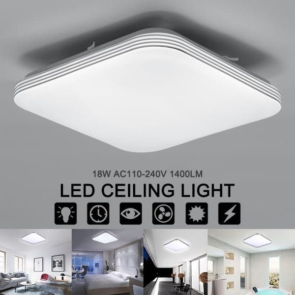 Shop Square 18W 1400LM Energy Efficient LED Ceiling Lights Modern .