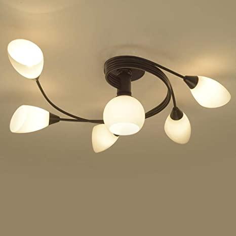 Joypeach Rustic Style LED Flush Mount Ceiling Lights, Creative .