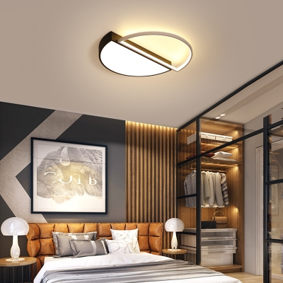 Acrylic Semicircle Flush Mount Light Fixture Bedroom Office LED .