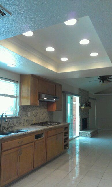 remodel flourescent light box in kitchen - Bing imag