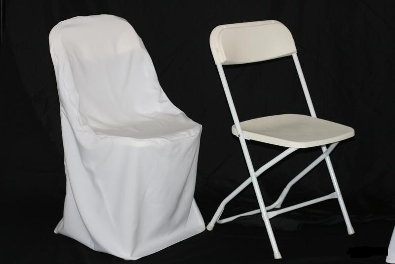 Polyester Folding Chair Cover – TLC Event Renta