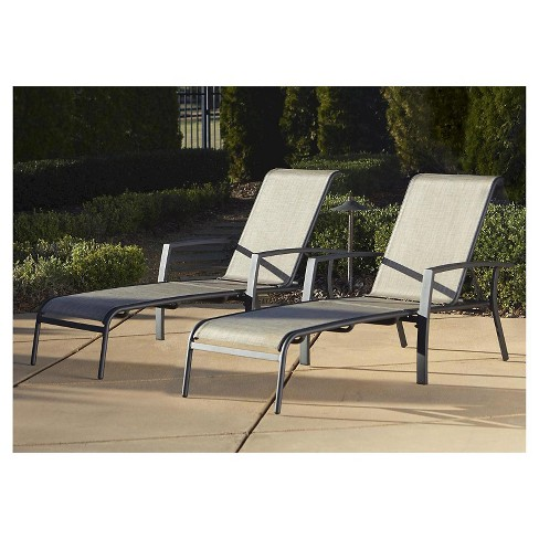 Cosco Serene Ridge 2 Piece Aluminum Outdoor Adjustable Chaise .
