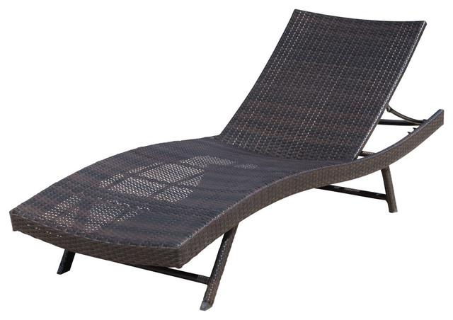GDF Studio Eliana Outdoor Brown Wicker Chaise Lounge Chair .