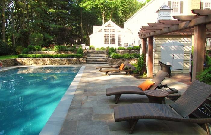 Lounge Patio Backyard Outdoor Chaise Rattan Wilson Home Ideas .