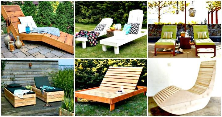 6 DIY Chaise Lounge Chair Ideas for Outdoor ⋆ DIY Craf