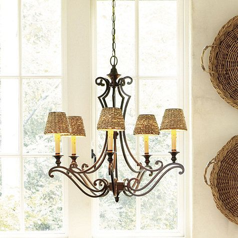 Woven Seagrass Chandelier Shade | Chandelier shades, Glass pendant .