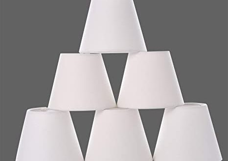 Chandelier Shades, Small lamp Shade Hardback, Clip on Shades with .