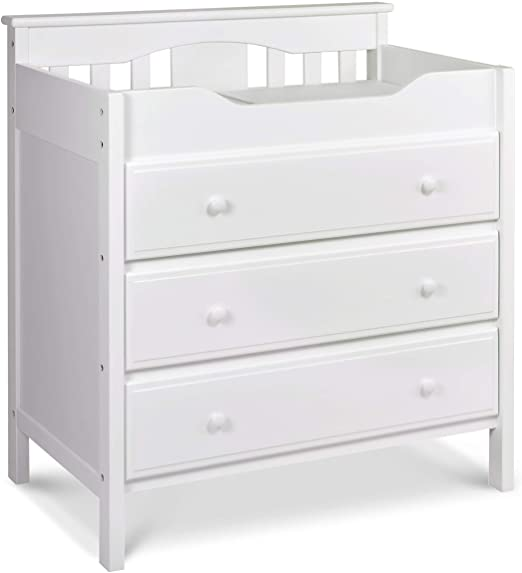 Amazon.com : Jayden 3 Drawer Changer Dresser in White : Changing .