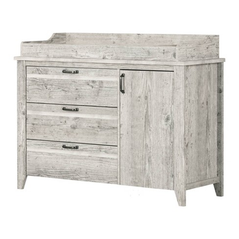 Lionel Changing Table With Drawers - Seaside Pine - South Shore .
