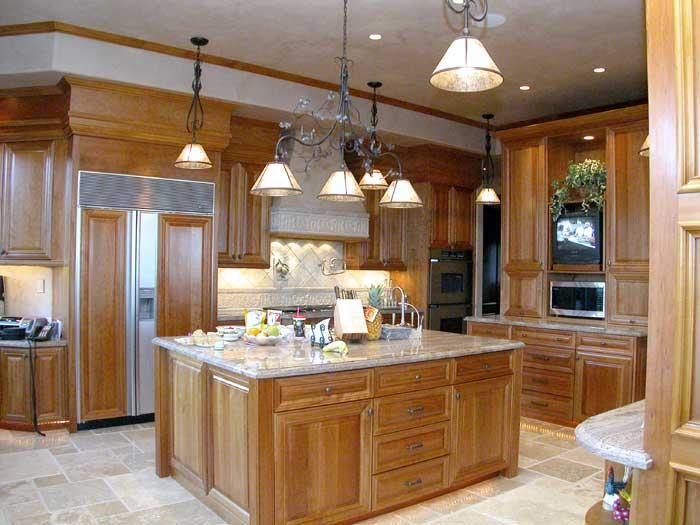Natural Cherry Kitchen Cabinets | Description: Natural Cherry Wood .