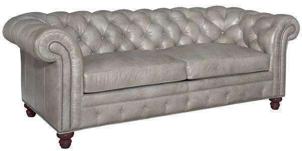 Colburn Designer Style Chesterfield Tufted Leather Queen Sleeper So